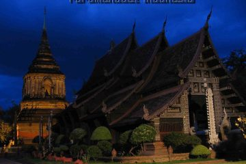 Night of wat lok molee, chiang may, thailand,
